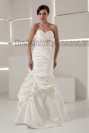 Discount Strapless Sweetheart Taffeta Wedding Dresses
