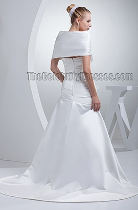 Elegant Off-The-Shoulder A-Line Wedding Dress Bridal Gown
