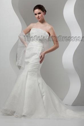 Elegant Trumpet/Mermaid Strapless Wedding Dresses