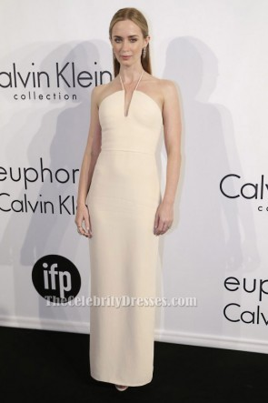 Emily Blunt Halter robe de bal de soirée Festival de Cannes 2015 robe formelle