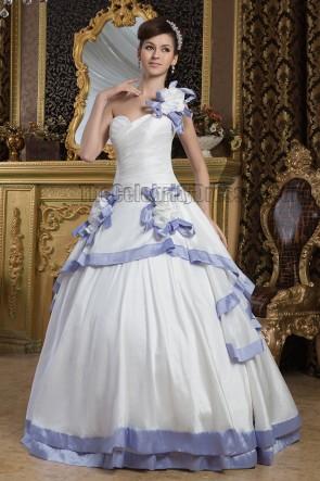 Floor Length Ball Gown One Shoulder Wedding Dresses