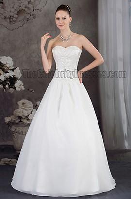 Floor Length Beaded Strapless Sweetheart A-Line Wedding Dress