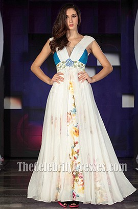 Glamorous Embroidered A-Line Formal Dress Prom Evening Gowns