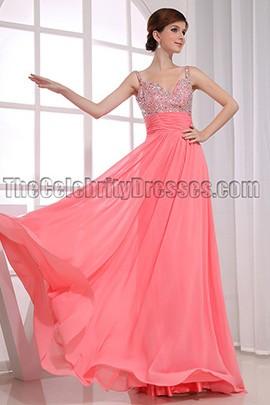 Gorgeous A-Line Chiffon Beaded Prom Dress Evening Dresses