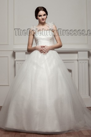 Gorgeous Ball Gown Tulle Chapel Train Wedding Dresses