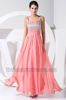 Gorgeous Sweetheart Chiffon Sequins Prom Gown Evneing Dress