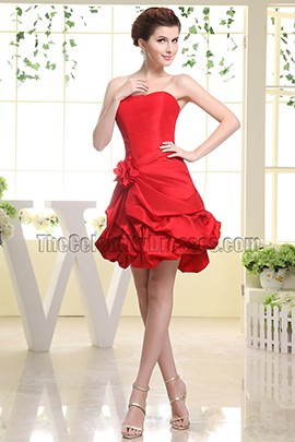 Red Sweetheart Party Dress Homecoming Bridesmaid Dresses