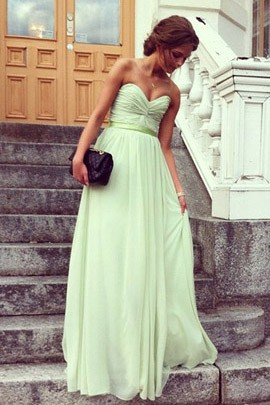 Strapless Prom Bridesmaid Dress Evening Gown Celebrity Inspired