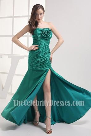 Elegant Green Strapless Prom Bridesmaid Dresses
