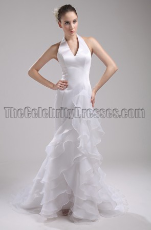 New Style Halter Wedding Dress Bridal Gown