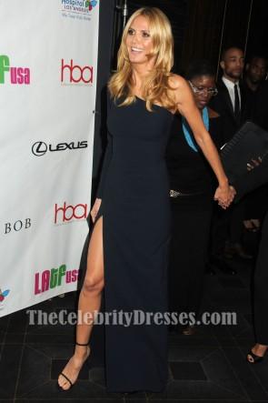 Heidi Klum - Robe de soirée noire à manches courtes 2016 Hollywood Beauty Awards
