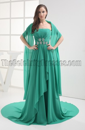 Hunter Strapless Chiffon Prom Dress Evening Formal Gown