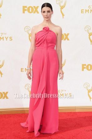 Jessica Paré Robe de cérémonie sans bretelles Robe de soirée Emmys 2015