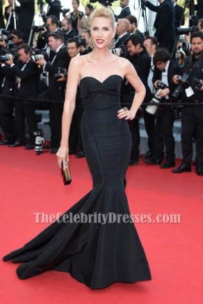 Judit Masco robe de sirène noire formelle 67e Festival de Cannes annuel