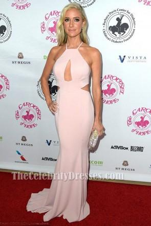 Kristin Cavallari Robe de soirée rose découpée Carrousel de Hope Ball 2016