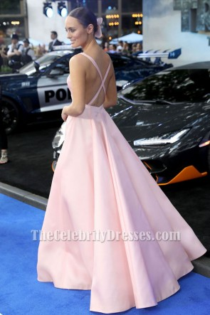 Laura Haddock Robe Formel Rose 'Transformers-The-Last-Knight' London Premiere Robe