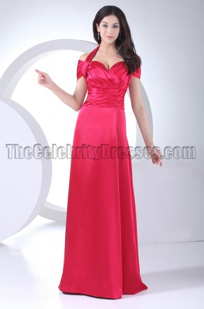 Celebrity Inspired Halter Evening Dress Formal Gowns