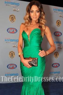 Nadia Coppolino Robe de soirée sirène verte Brownlow Medal Awards 2011