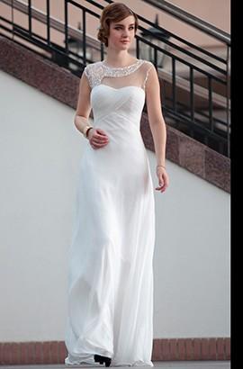 New Style Floor Length White Evening Prom Formal Dresses