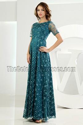 Elegant Green Lace Formal Dress Evening Dresses