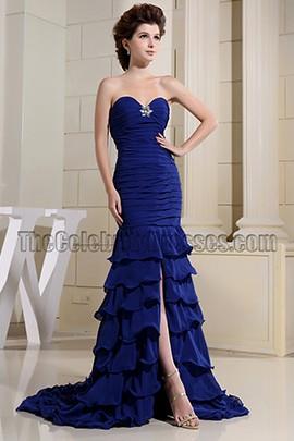 Dark Royal Blue Mermaid Prom Formal Evening Dresses