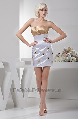 Sheath/Column Strapless Homecoming Party Dresses
