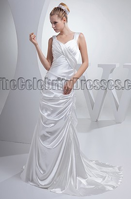 New Style Silk Like Satin Wedding Dress Bridal Gown