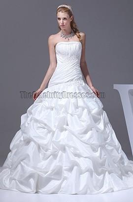 New Style Strapless Taffeta Ball Gown Wedding Dresses