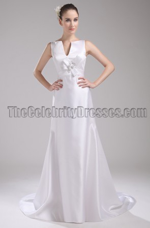 New Style White Long Wedding Dresses