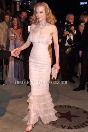 Nicole Kidman Robe rose perlée formelle 2002 Oscar tapis rouge