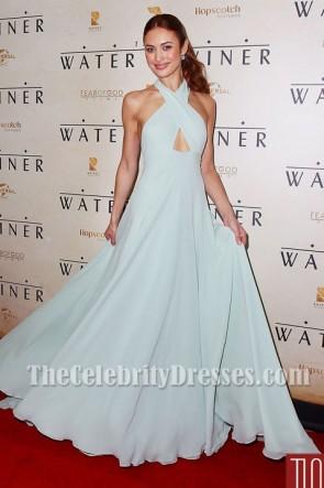 Olga Kurylenko Halter Evening Dress 'The Water Diviner' Sydney Premiere TCD5980