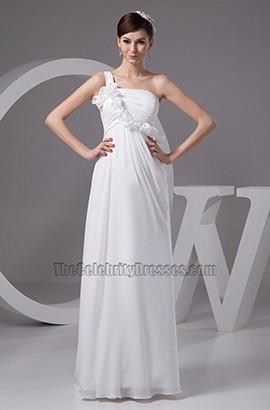 Gorgeous One Shoulder Chiffon Floor Length Wedding Dresses