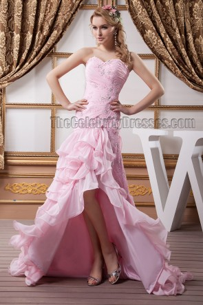 Pink Strapless Sweetheart Beaded Formal Dress Evening Gown