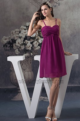 Purple Chiffon A-Line Short Party Cocktail Homecoming Dresses
