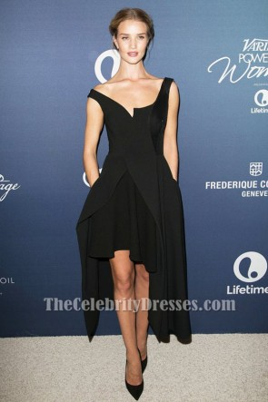 Rosie Huntington-Whiteley Robe de soirée noire Party Variété's Power Of Women Déjeuner