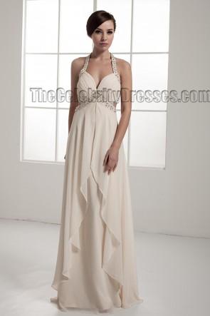 Sexy Backless Beaded Chiffon Informal Wedding Dresses