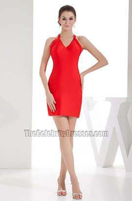 Sexy Red Mini V-Neck Short Party Homecoming Dresses