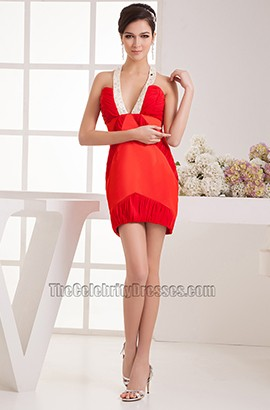 Sexy Red Short Mini Beaded Party Cocktail Dresses