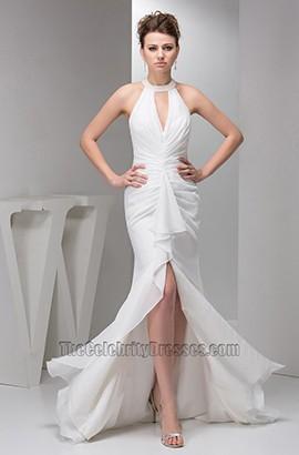 Sexy Trumpet/Mermaid Halter Chiffon Informal Wedding Dresses