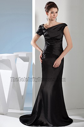 Sheath /Column Black Formal Dress Prom Evening Gown
