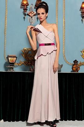 Sheath/Column One Shoulder Formal Dress Evening Gown