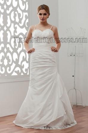 Sheath/Column Spaghetti Sweep Brush Train Wedding Dresses