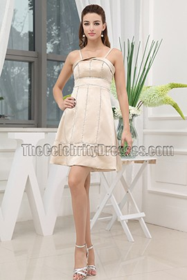 New Style Short Champagne Beaded Cocktail Party Dresses