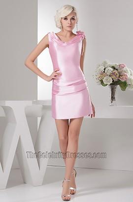 Short /Mini Pink V-Neck Party Graduation Homecoming Dresses
