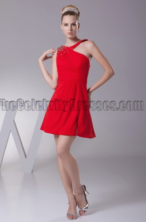 Short Mini Red Party Homecoming Graduation Dresses