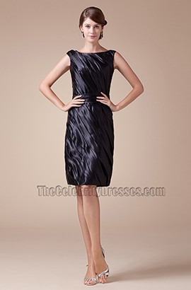 Short Sleeveless Black Cocktail Party Graduation Dresses