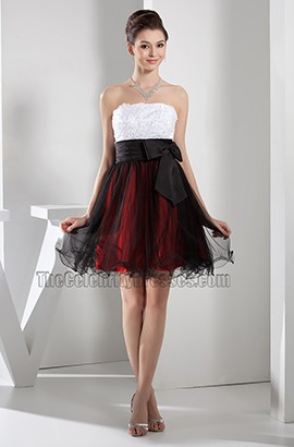 Discount Short Strapless A-Line Homecoming Party Dresses