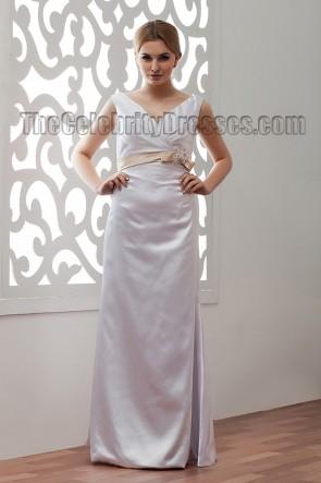 Simple Floor Length V-Neck Bridal Gowns Wedding Dress