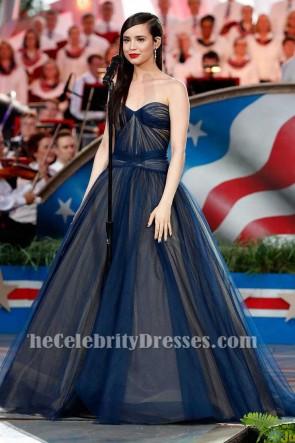 Sofia Carson bretelles sweetheart robe de bal 2017 un quatrième Capitol
