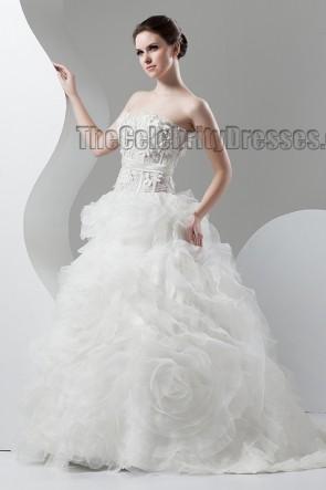 Strapless Sweetheart Ball Gown Sweep/Brush Train Wedding Dress
